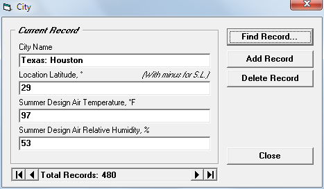 Cool Room Calc - Cooling Load Calculation Software
