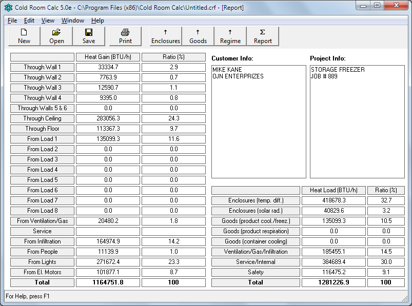 Cold Room Calc - Refrigeration Load Calculation Software